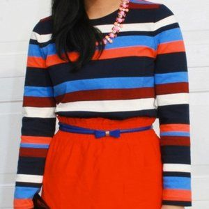 J. Crew Color Blocked Striped Nautical LS …